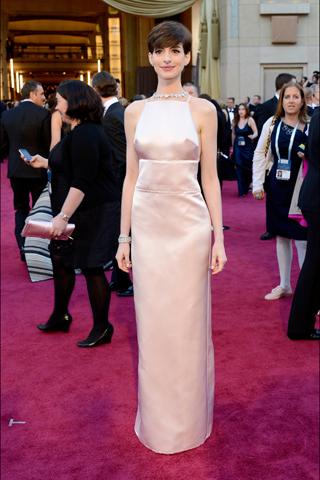 Anne Hathaway, in Prada