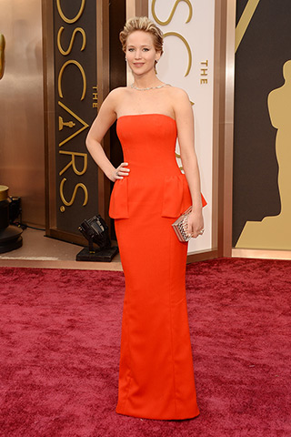 Jennifer Lawrence, in Dior Haute Couture