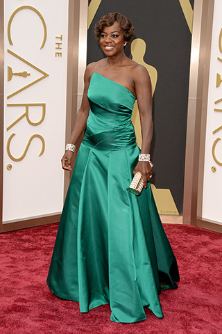 Viola Davis, in Badgley Mischka
