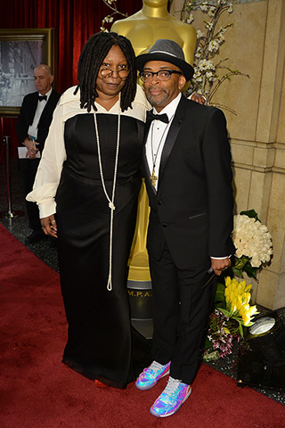 Whoopi Goldberg and Spike Lee