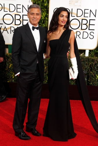 George Clooney and Amal Clooney, in Dior Haute Couture