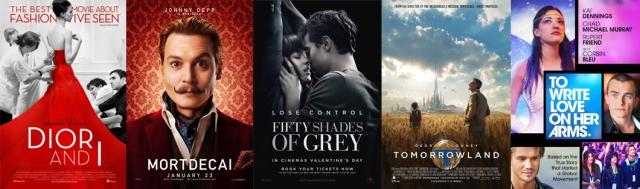 2015. gada filmas, kuras saņēmušas gan pozitīvas, gan negatīvas atsauksmes