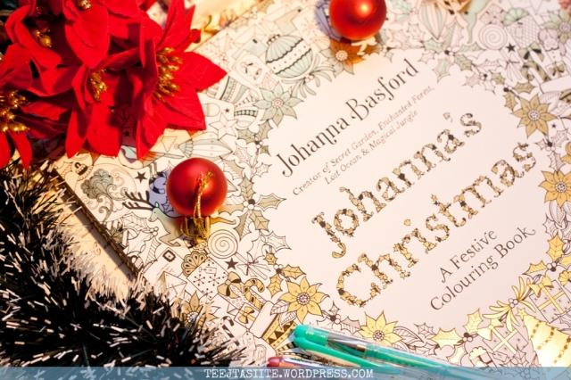 Krāsojamā grāmata pieaugušajiem Johanna's Christmas - Tējtasītes grāmatas