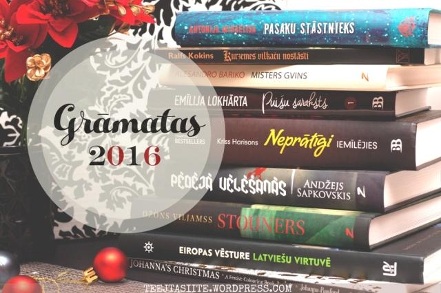 Labākās 2016.gada grāmatas iesaka Tējtasīte