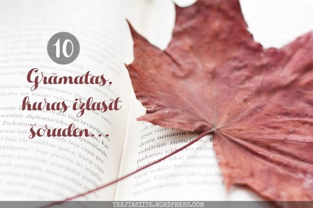 10 grāmatas, kuras izlasīt šoruden
