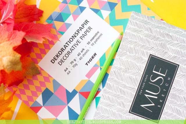Skiču bloks un dekoratīvais papīrs